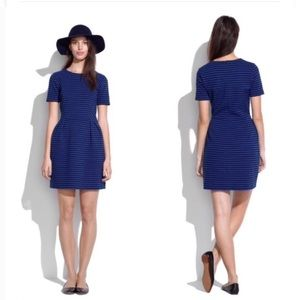 Stripped black and blue Madewell Dress